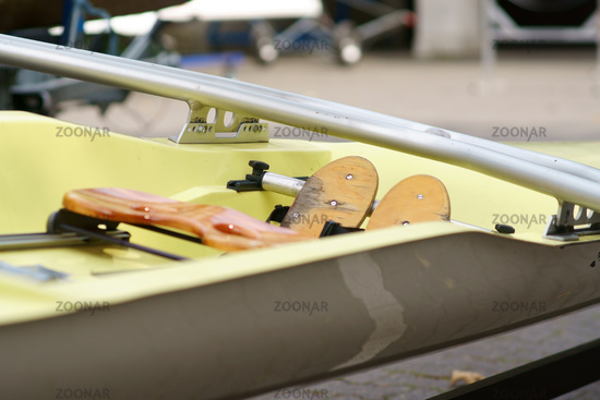 Rowing seat close-up