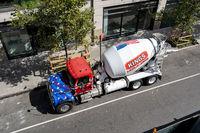 Concrete Mixer Truck in Manhattan, NYC