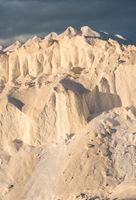 hill of salt in evening sun