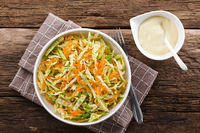 Coleslaw with Mayonnaise Salad Dressing