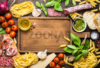 Italian traditional food and appetizers
