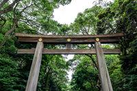 first meiji jingu torii gate
