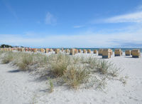 Beach of Groemitz at baltic Sea,Schleswig-Holstein,Germany