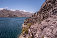 the Puclaro Lake in the desert