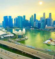 Skyline Singapore Downtown, Marina Bay