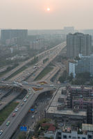 Chengdu RenNan interchange at sunset