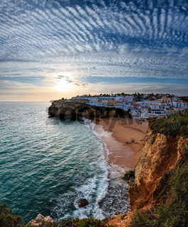 Evening sunset Atlantic coastline, Algarve, Portugal