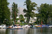 Sailboat port on the Rhine