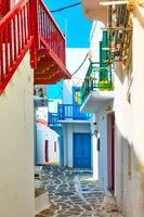 Old street in Mykonos town