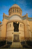 Exterior view to Cathedrale Notre Dame d'Afrique at Algiers, Algeria