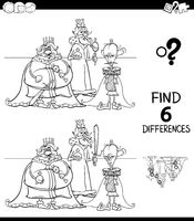 differences color book with kings characters