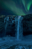 Waterfall Nothern Lights