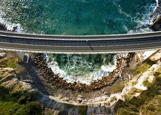 Looking down on Sea Cliff Bridge