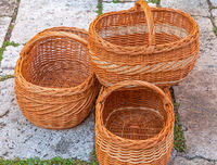 Baskets for sale on a market