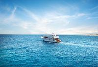 Pleasure boat in Sea