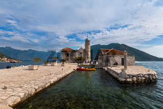 Our Lady of the Rock island in Boka Kotor bay - Montenegro