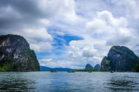 boat in Phang Nga Bay, Thailand