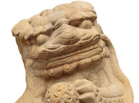 Lion marble face, Chinese Lion, stone carving sculpture, the symbol of Power, by Chinese. Stone Lion sculpture. Sculpture of Chinese lion, Antique stone carving doll