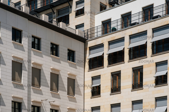 real estate concept - building facade exterior  -