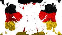 Scattered Germany flag