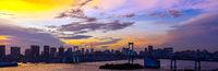 Tokyo Tower Rainbow bridge Japan panorama