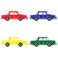 Set of 4 colorful cars