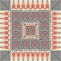 Palestinian embroidery pattern 40
