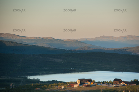 View to Rondane National Park in the Evening