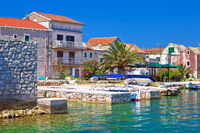 Colorful waterfront of Krapanj island village view