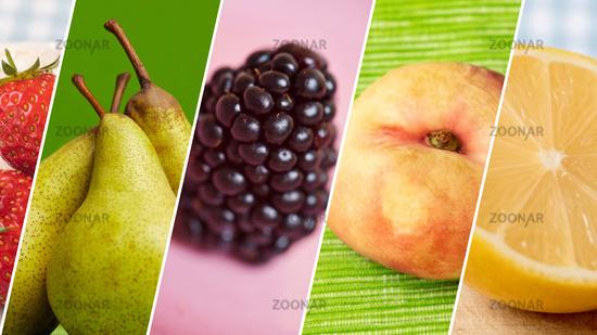 Frische Früchte als Obst Header