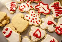 decorated christmas cookies for the holidays