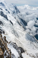 Mont Blanc mountain massif view