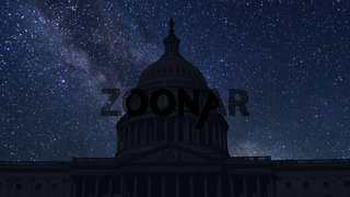 time lapse with stars, Washington D.C., united states