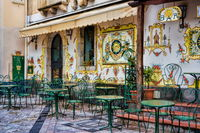 Altes Cafe in Taormina, Sizilien