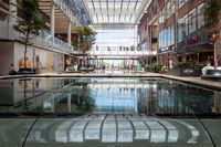 Interior modern new Dutch shopping centre Hoog Catharijne of Utrecht