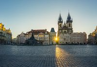 Old town square in Prague city, Czech Republic