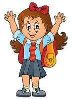 Happy pupil girl theme image 1