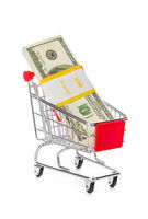 Money in shopping cart