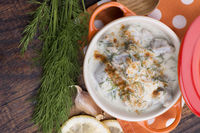 turkish traditional tripe soup; iskembe corbasi and offal soup