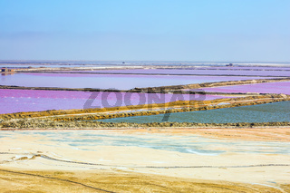 Extraction of sea salt in Namibia
