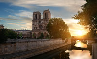 Dawn over Notre Dame