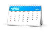 table calendar 2020 april