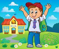 Happy pupil boy theme image 4
