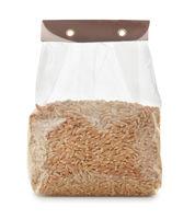 Plastic bag of spelt wheat