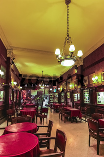 The interior of Cafe Tortoni, is one of the most beautiful cafes in the world