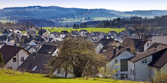 village Schoenholthausen, Finnentrop, Sauerland, North Rhine-Westphalia, Germany, Europe