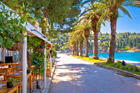 Tourist waterfront street in Cavtat view