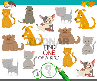 one of a kind game with dogs and cats
