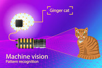 Vector infographic - computer vision and pattern recognition