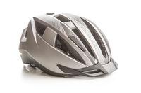 Hard bicycle helmet.